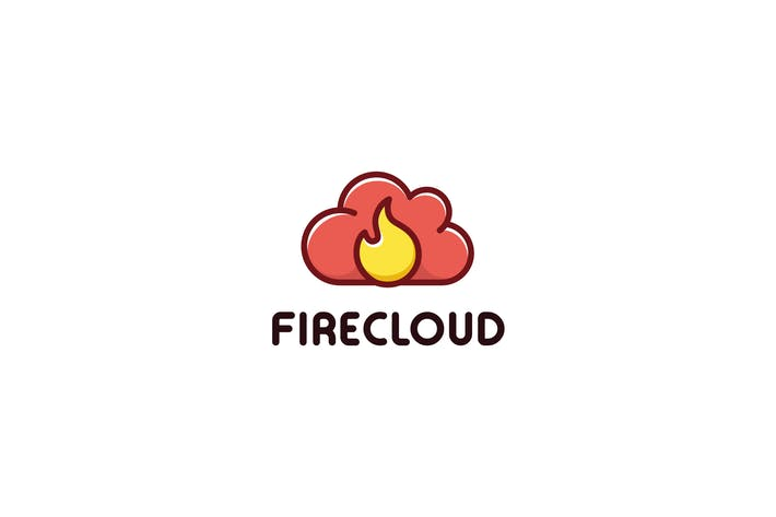 Thumbnail for Fire Cloud - logo template