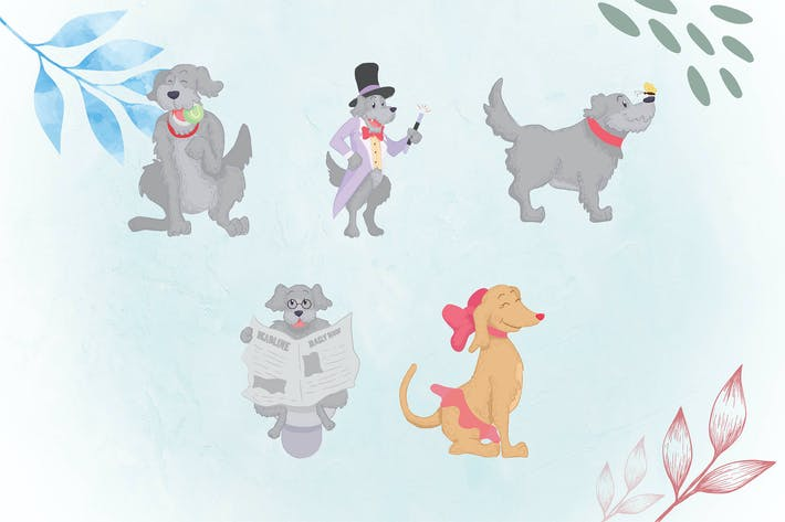 Thumbnail for skurrilen Tier-Illustrationen DOG