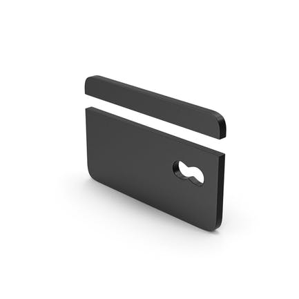 Symbol Black Bank Card