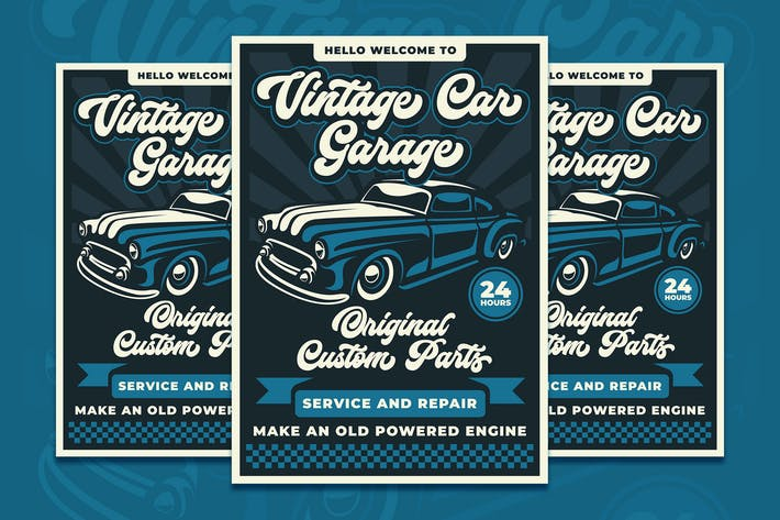 Thumbnail for Vintage Car Garage Template