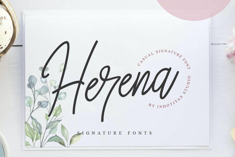 Herena Signature Font