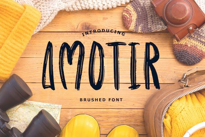 Thumbnail for Amotir Bold Brush Display Font