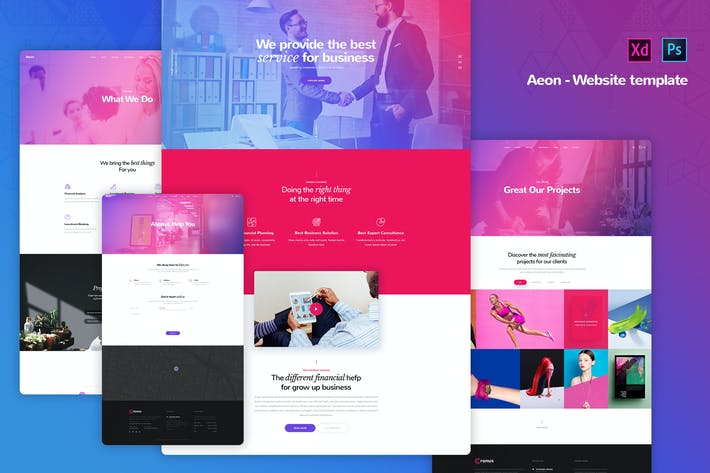 Thumbnail for Aeon - Corporate Business Website Templates