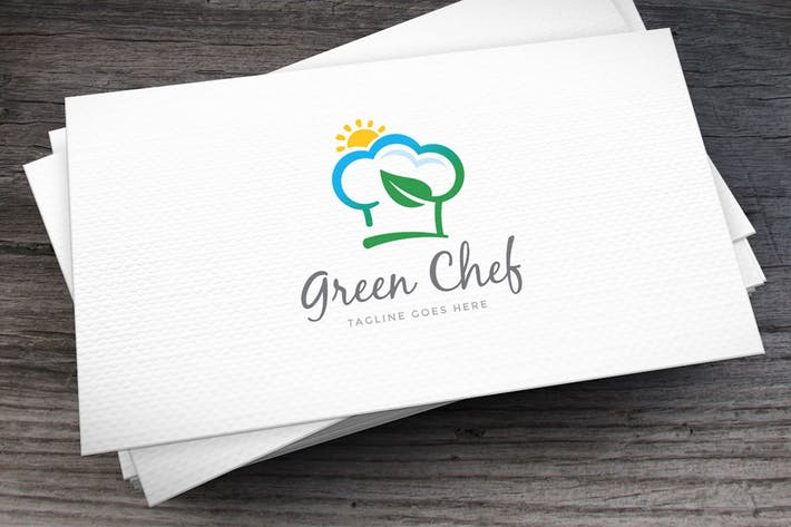 Thumbnail for Green Chef Logo Template