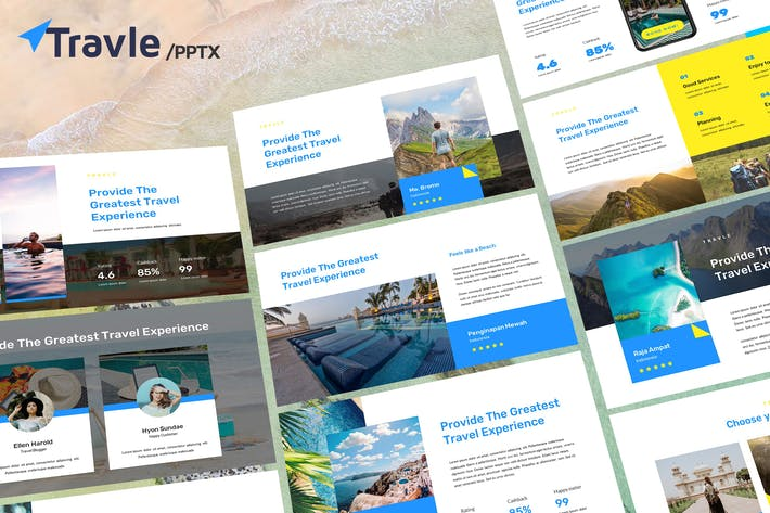 Thumbnail for TRAVLE - Powerpoint Template