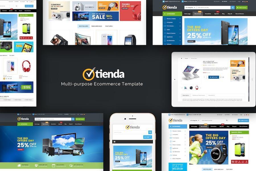 Tienda - Technologie OpenCart Thème