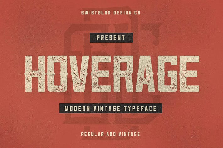 Cover Image For Hoverage Typeface