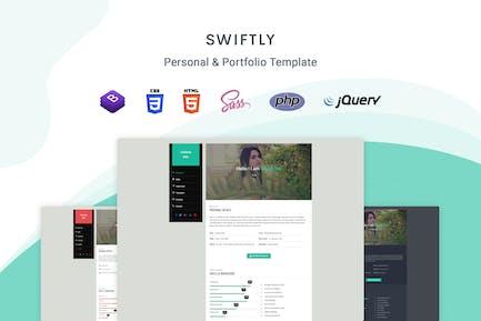 Swiftly - Personal & Portfolio Template