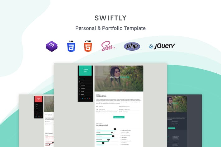 Thumbnail for Swiftly - Personal & Portfolio Template