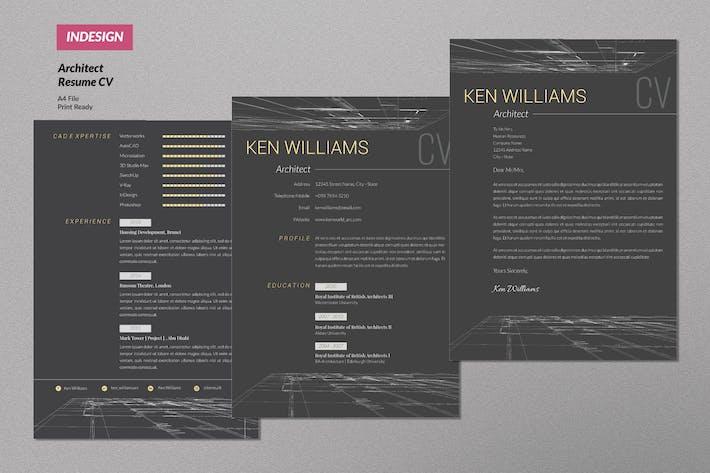 Thumbnail for Architect Creative Resume Design Vol. 14