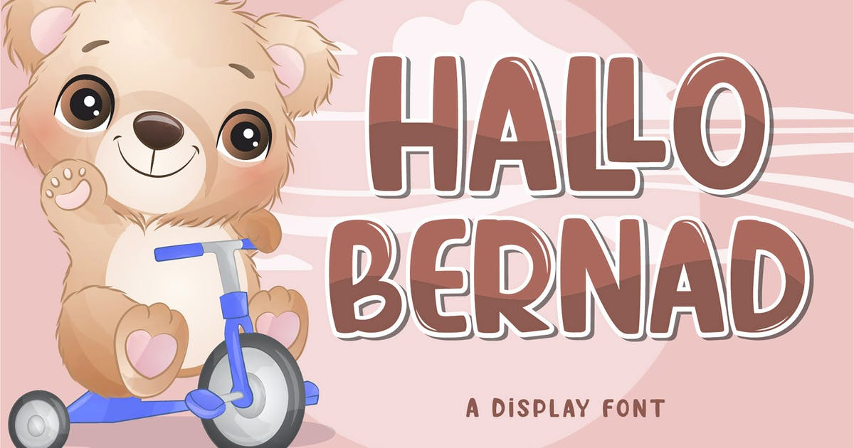 Download Hallo Bernad Display Font by axelartstudio
