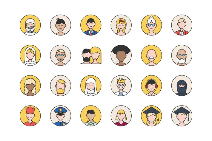 Thumbnail for 32 User Avatars Icons