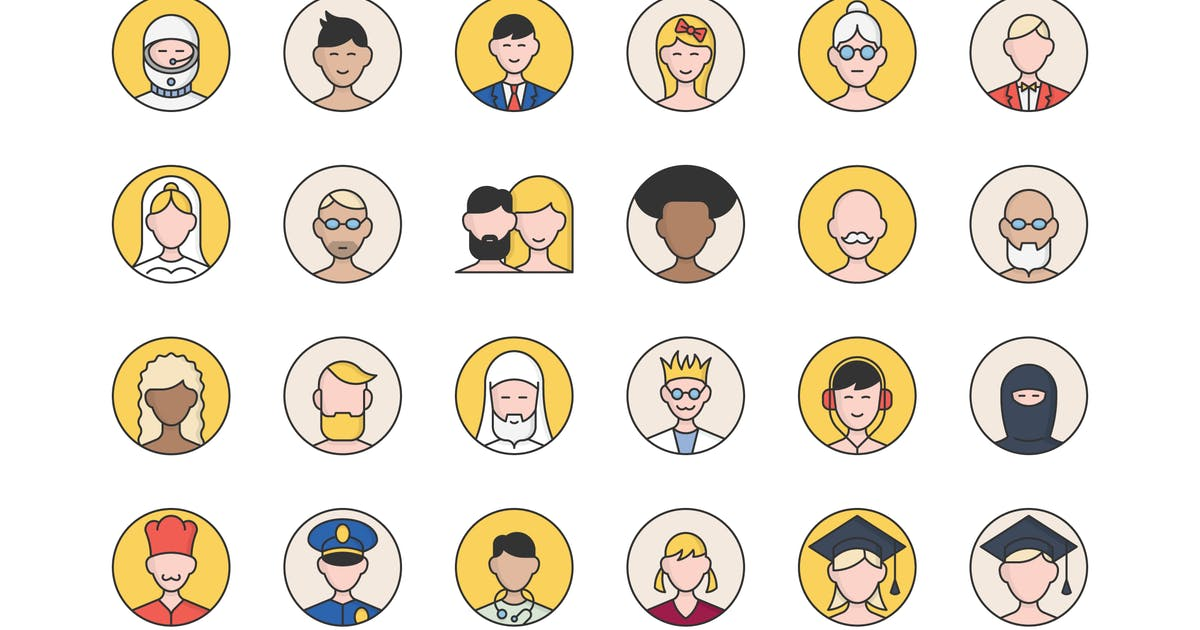 Download 32 User Avatars Icons by polshindanil