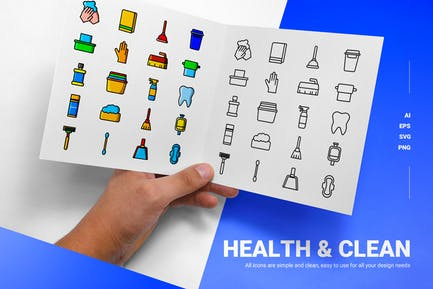 Health Clean - Icons