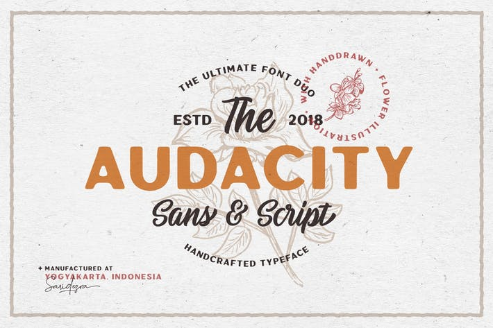 Thumbnail for Audacity - Font Duo (+EXTRAS)