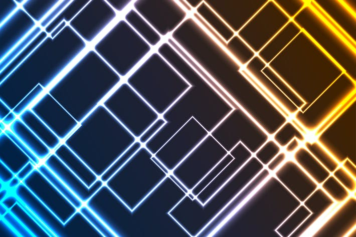 Thumbnail for Abstract glowing neon colorful squares background