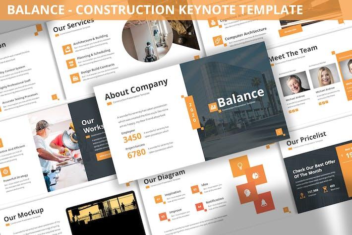 Balance - Construction Keynote Template