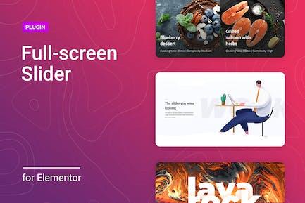 Full-screen Slider for Elementor