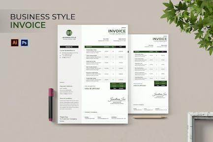Rechnung für Geschäftsstile