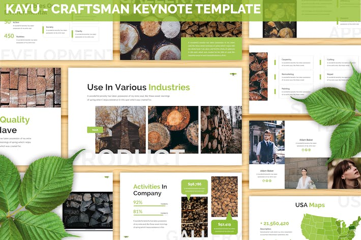 Thumbnail for Kayu - Craftsman Keynote Template
