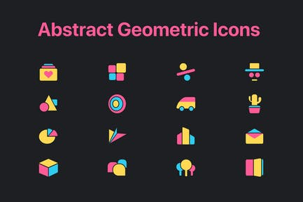 Abstract Geometric Icons
