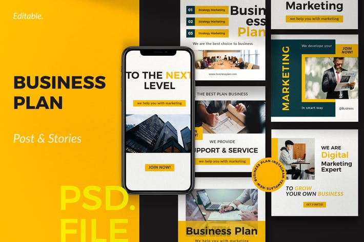 Thumbnail for Businessplan - Post & Story Instagram Vol. 1