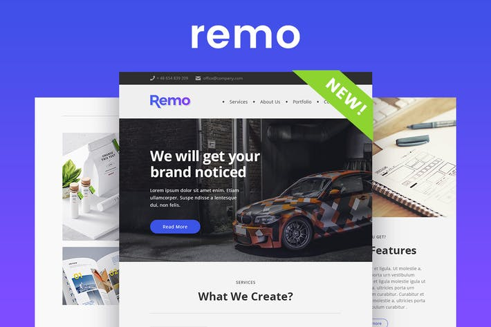 Cover Image For Remo - Responsive Email Newsletter Template
