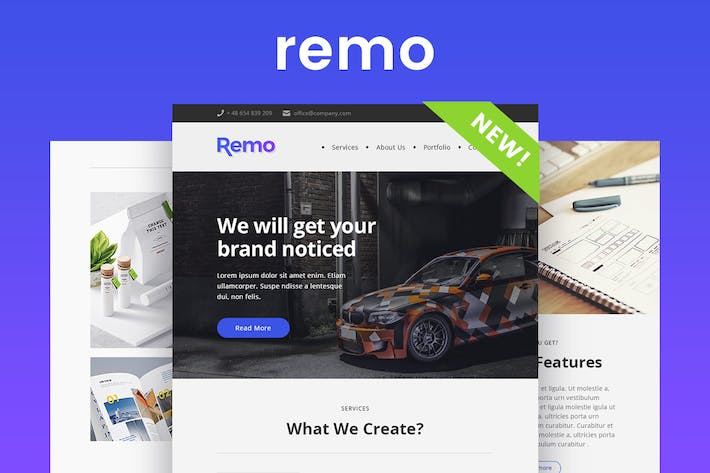 Thumbnail for Remo - Responsive Email Newsletter Template