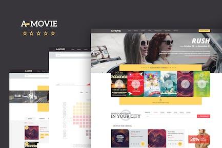 A.Movie — Cinema/Movie HTML LESS Template