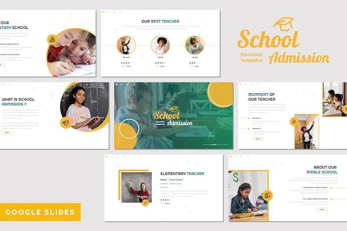 Thumbnail for Прием в школу - Образование Google Слайды
