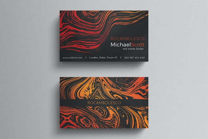 Thumbnail for Marble business card template
