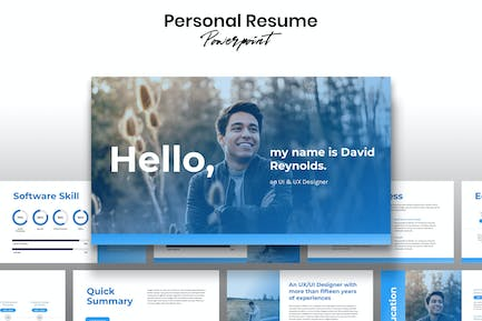 Personal Resume - Template Powerpoint