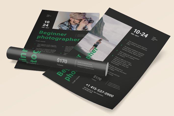 Thumbnail for Beginner Photographer Poster Template