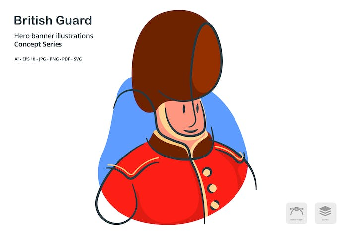 Cover Image For British Guard Vector Illustration