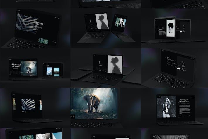 Thumbnail for Maquete de computadores portáteis preto