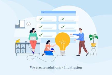 Create solutions illustration