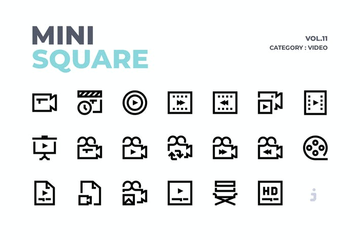 Thumbnail for Mini square - 60 Video Icons