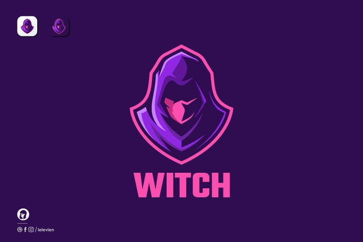 Thumbnail for Witch logo template