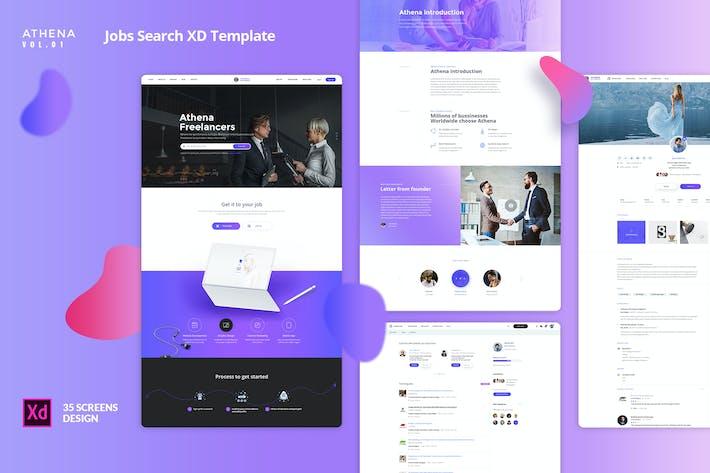 Thumbnail for ATHENA Vol.01 - Jobs Search XD Template