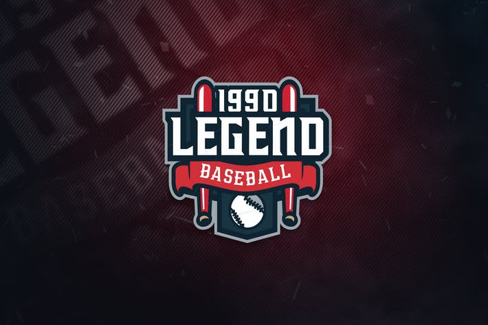 Thumbnail for Legend Baseball Sports Logo