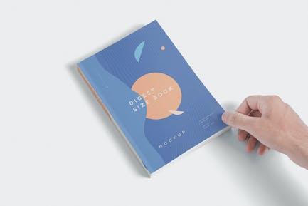 Digest Size Book Mockups