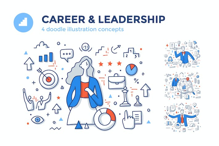 Thumbnail for 4 Career & Leadership Color Line Concepts