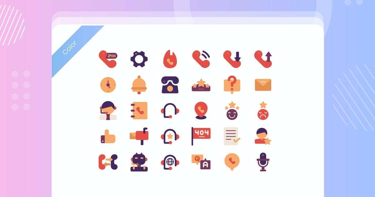 Download Call Center Service Icon Pack by vectorclans