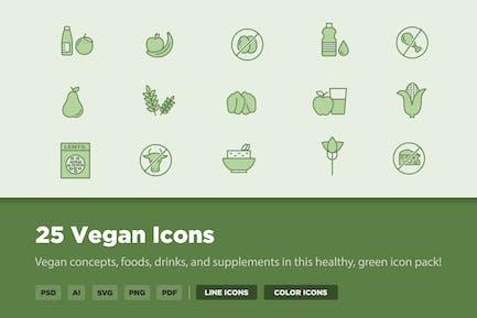 25 vegane Icons