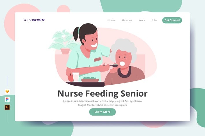 Thumbnail for Nurse Feeding Senior - Landing Page