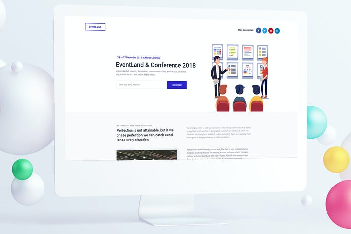 Thumbnail for Event & Conference Landing Page PSD Template