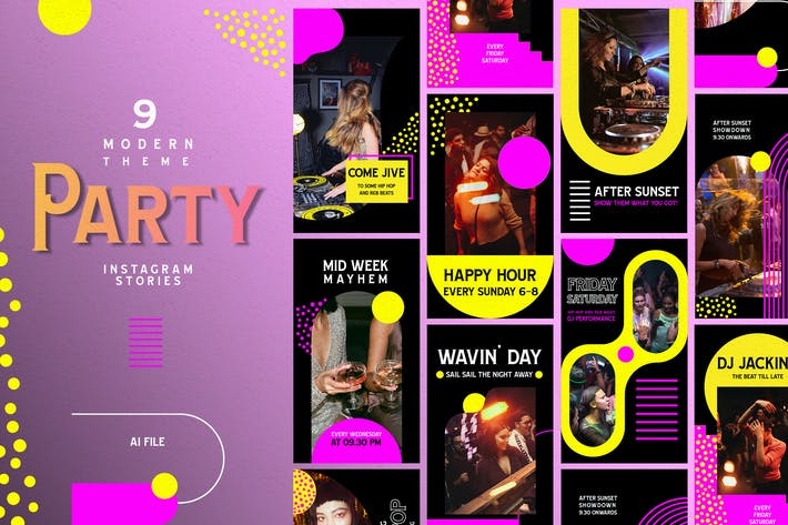 Modern Theme - Party Instagram Stories