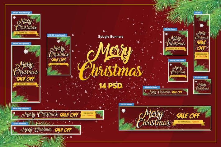Thumbnail for С Рождеством Баннеры Ad PSD Шаблон