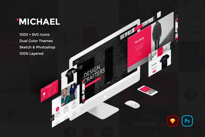 Thumbnail for Michael Creative Website UI Kit