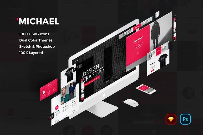 Thumbnail for Michael Creative Website UI Kit